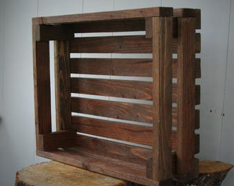 Hand made rustic crate