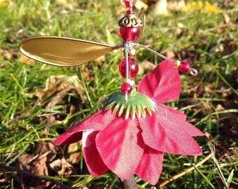 Poinsettia flower fairy