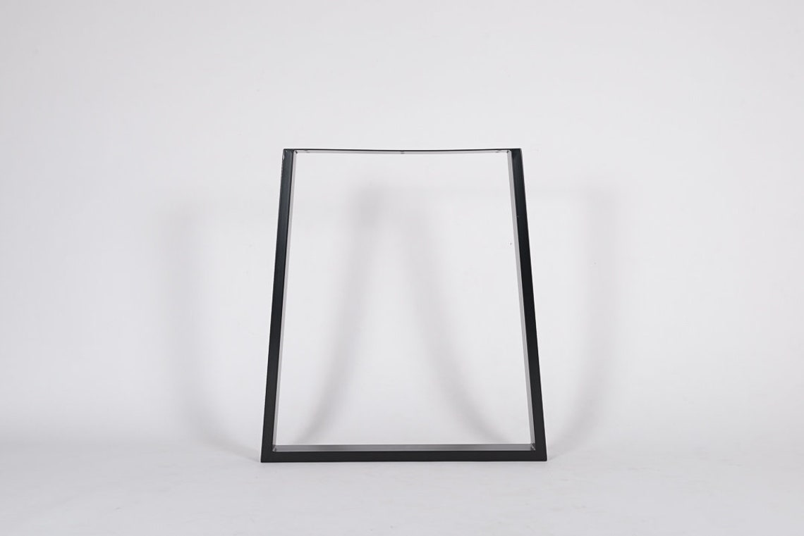 TRAPEZIUM Shape Industrial Steel Metal Dining Table Legs/Frames