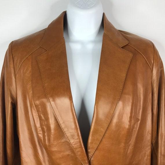 Vintage 70s Dead Stock Remy Womens Caramel Saddle… - image 2