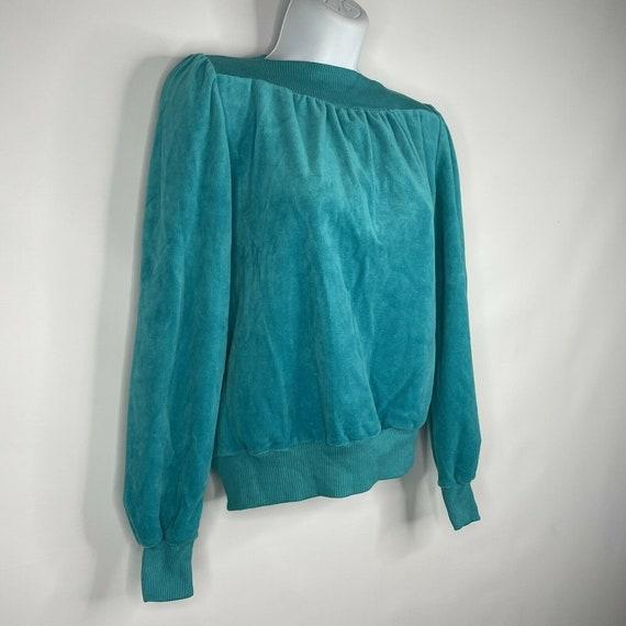 Vintage 70s  Deadstock Allura Turquoise Blue Velo… - image 3