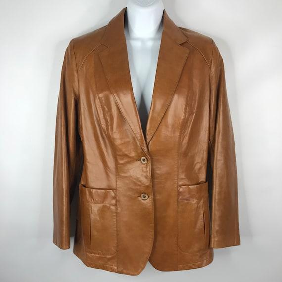 Vintage 70s Dead Stock Remy Womens Caramel Saddle… - image 1