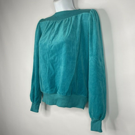 Vintage 70s  Deadstock Allura Turquoise Blue Velo… - image 6