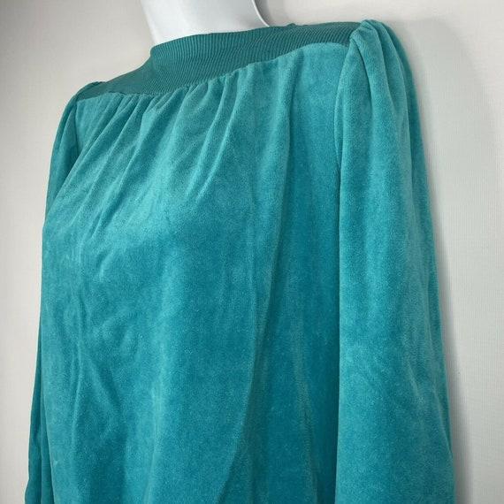 Vintage 70s  Deadstock Allura Turquoise Blue Velo… - image 7