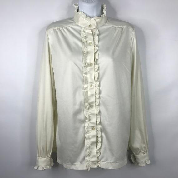 Vintage 70s CG Career Guild White High Neck Tuxedo