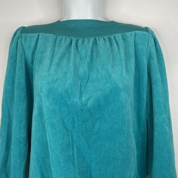 Vintage 70s  Deadstock Allura Turquoise Blue Velo… - image 2