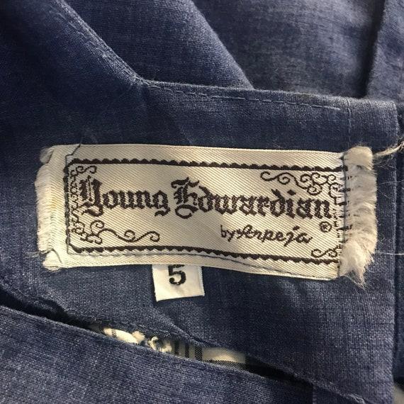 Vintage 60s Young Edwardian Arpeja Blue Denim Pla… - image 10