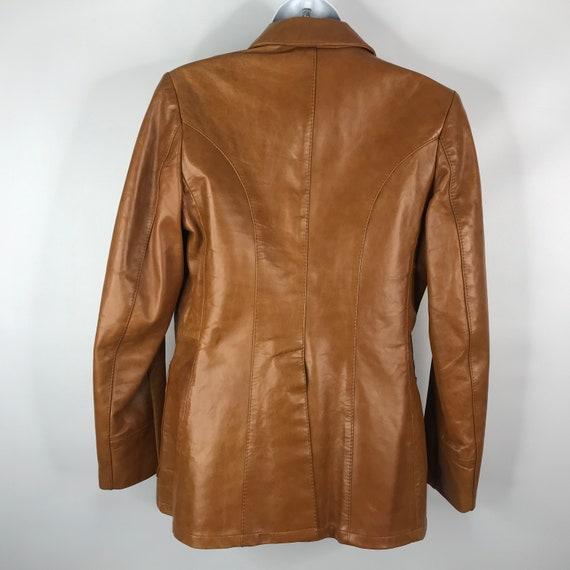 Vintage 70s Dead Stock Remy Womens Caramel Saddle… - image 5