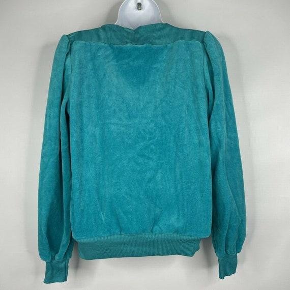 Vintage 70s  Deadstock Allura Turquoise Blue Velo… - image 5