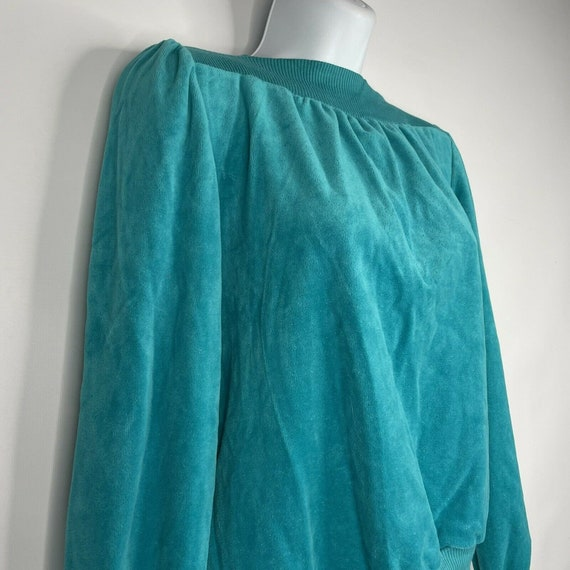 Vintage 70s  Deadstock Allura Turquoise Blue Velo… - image 4