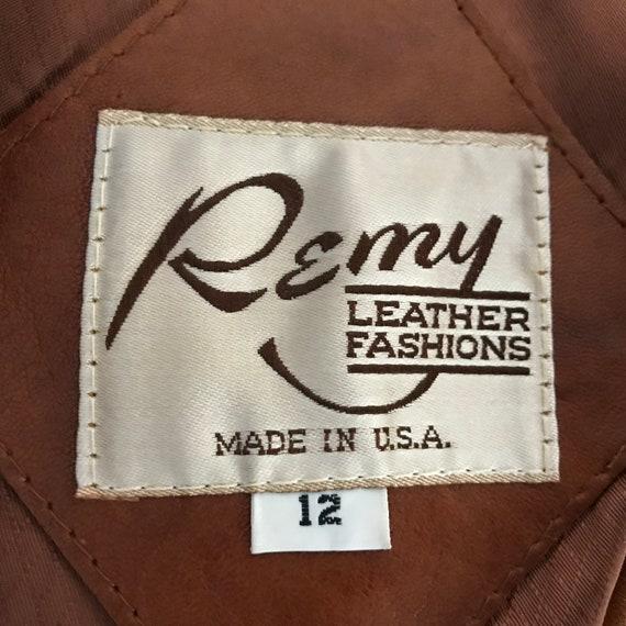Vintage 70s Dead Stock Remy Womens Caramel Saddle… - image 8