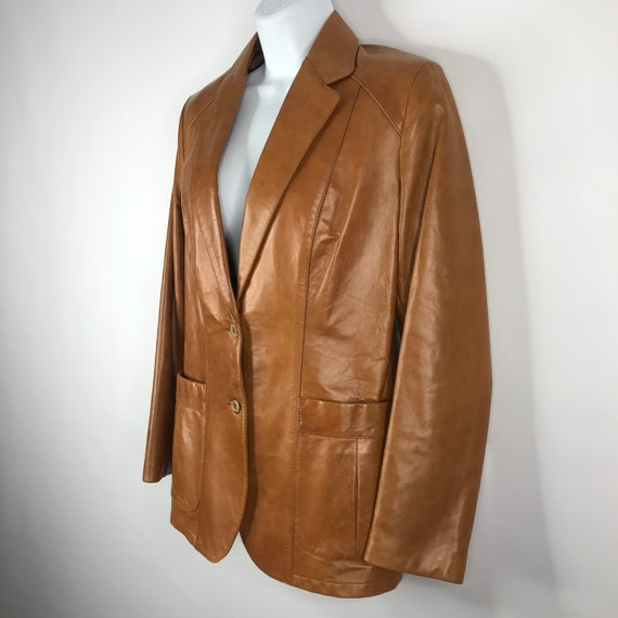 Vintage 70s Dead Stock Remy Womens Caramel Saddle… - image 6