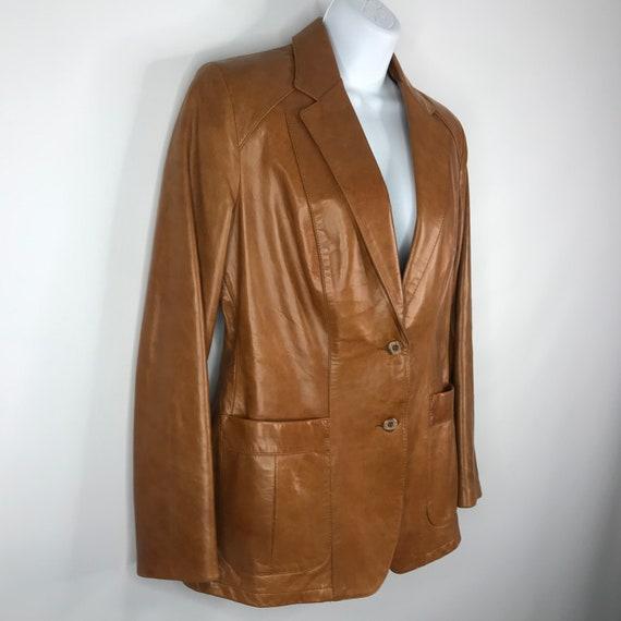 Vintage 70s Dead Stock Remy Womens Caramel Saddle… - image 3