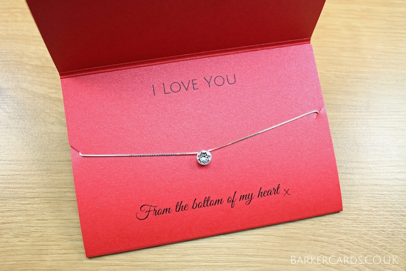 I Love You Necklace Jewellery Gift for Wife Present for New image 0