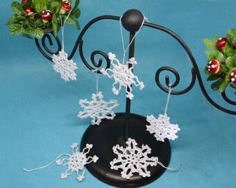 Crochet snowflakes - Rustic Christmas decor - Christmas tree decoration - Tree ornaments -  Christmas ornaments