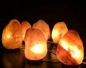 Natural Ionizing Himalayan Pink Rock Crystal Salt Lamp Natural Therapeutic 2-3KG