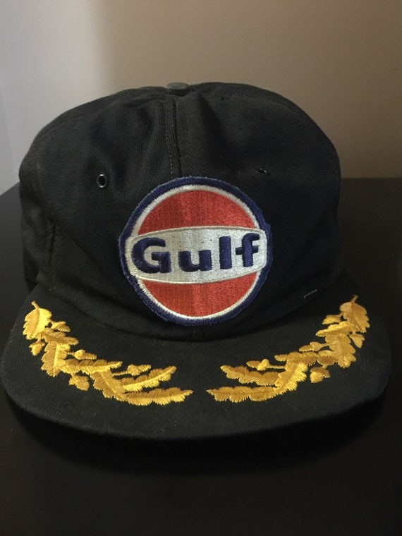 1980 s Gulf Oil Collectable Snapback Truckers Hat  f453ff3c1e25