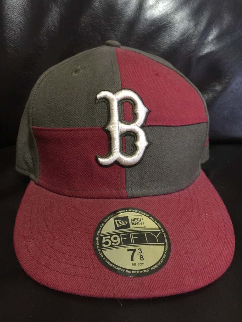 a38f33415 New Era Boston Red Sox Hat   Etsy