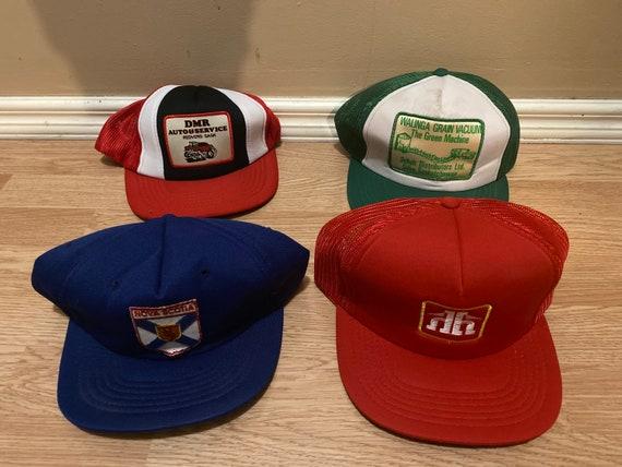 Set of Four 1980's Vintage Snapback Trucker Hats