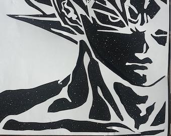 Papercut Based on Goku, Dragonball.