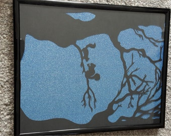 Woodland Scene Papercut.