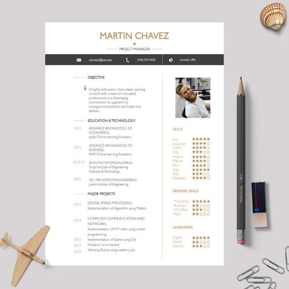 MS Word und Mac Seiten Lebenslauf Vorlage mit passenden