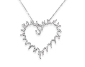 Radiance heart necklace - silver