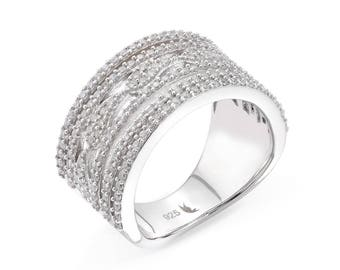 Ocean ring - silver