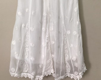 a7695193b4 Chikankari palazzo on fine georgette with lace /One size/Free Shipping