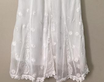 da99236521 Chikankari palazzo on fine georgette with lace /One size/Free Shipping