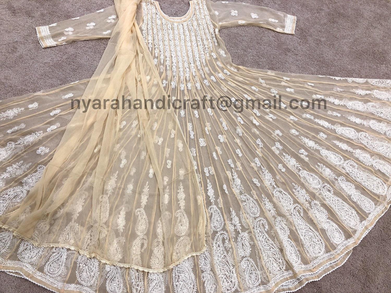 5712e218cd07 Lucknow Chikankari Anarkali with