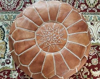 Moroccan pouf, Berber pouf, ottoman pouf, leather pouf, bohemian decoration