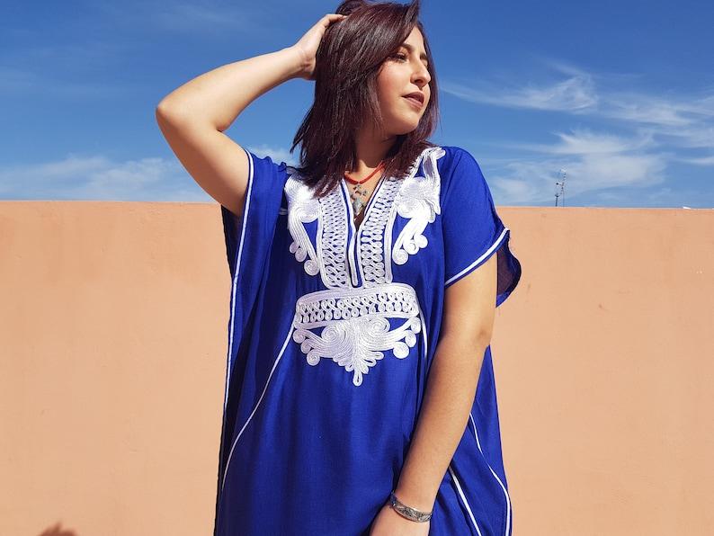 91d6f4f3bcc Robe marocaine robe caftan vêtement pour femme caftan Bleu