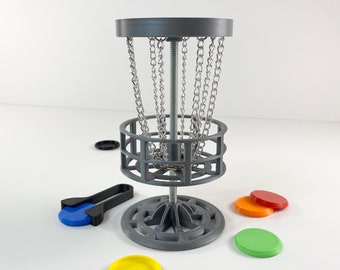 Mini Golf - Mini Disc Golf - Table Top Game - 3D Printed - Drinking Game - Mini Frisbee - Trophy Game - Table Golf - Man Cave Decor