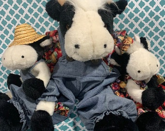 4b0ffaad977 Vintage Joelson Industries Plush Mother Cow   2 Babies Stuffed Animals Cow  Collectibles 1995. PeytonsPlaceFinds. 5 out of ...