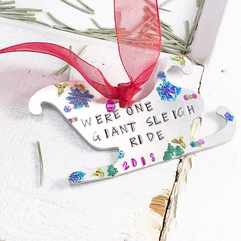 personalized gift for family personalized gift Christmas Ornament Personalized ornament Hand Stamped Hand Painted personalized ornament