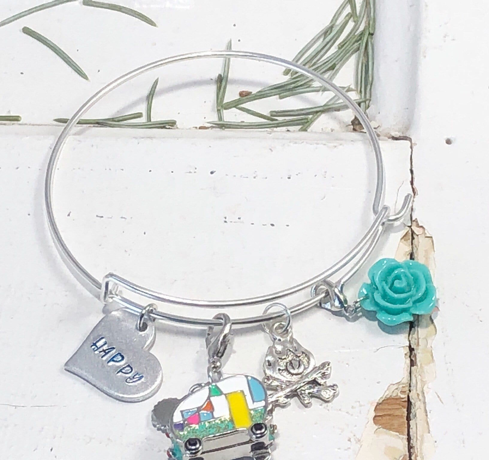 camping bracelet friendship bracelet canoe camping jewelry camping camp counselor gift summer camping gift for her sailing camper