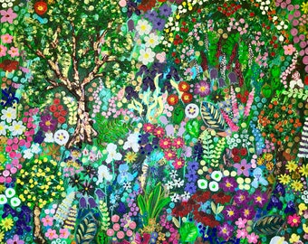 The Flowers of Monet's Garden,original painting, flower painting, Monet, inspired by Monet, flowers, colorful flower paintings, floral