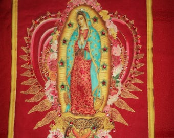 Our Lady of Guadalupe Mini Quilt Wall Hanging