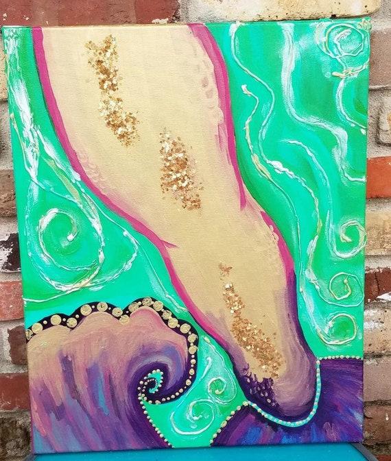 Mixed Media Mermaid Tail