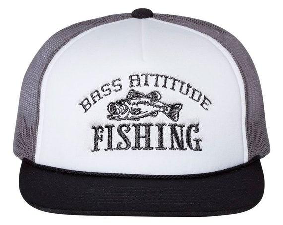 Bass Attitude Fishing Logo - Embroidered Snap-back Foam Trucker Cap