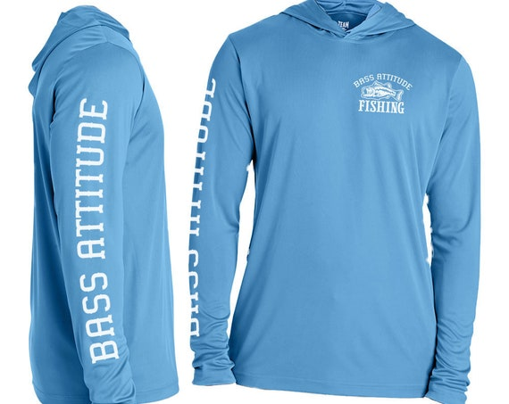 Bass Attitude Fishing - Moisture-Wicking and UV Protection - Performance Hoodie