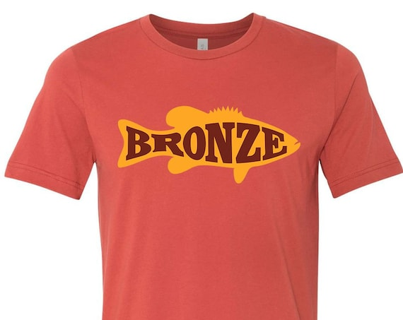 Bronze Fishing - Premium Bella+Canvas 3001 - Logo T-shirts from Bass Attitude Fishing