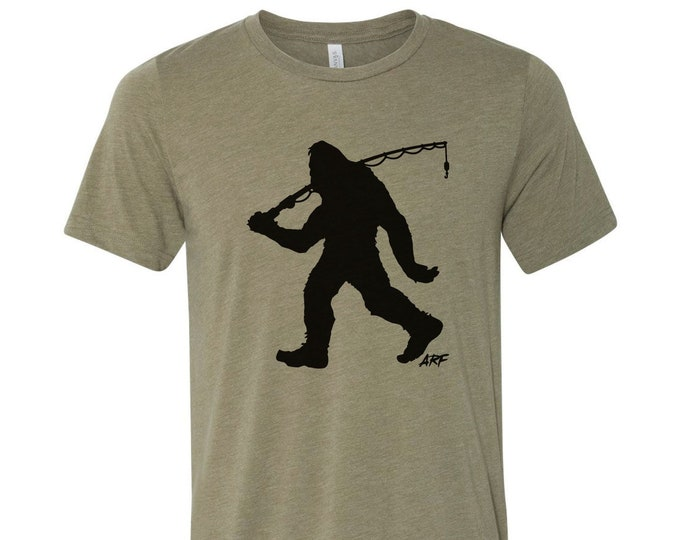 ARF Bigfoot Fishing - Signature Alex Rudd Fishing - Dual Blend Bella+Canvas Tee