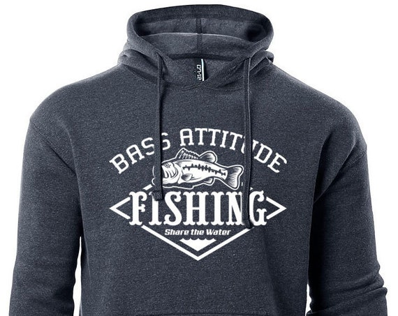 Bass Attitude Fishing - Logo Hoodie - Premium Pullover Hooded Sweatshirt