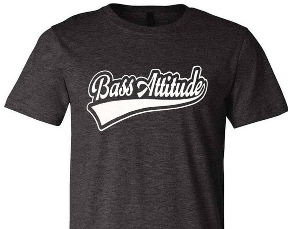 Bass Attitude Sport Logo - Screen Printed Dual Blend T-Shirts and Hoodies