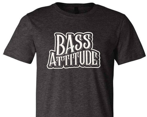 Bass Attitude Logo - Screen Printed Dual Blend T-Shirts and Hoodies