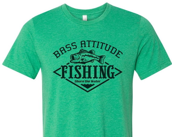 Bass Attitude Fishing Logo - Screen Printed Dual blend T-Shirts