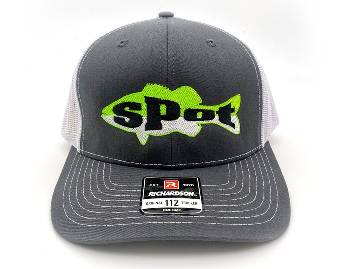Spot Fishing - Spotted Bass Fish Embroidered Logo - Richardson 112  Trucker Caps and Hats