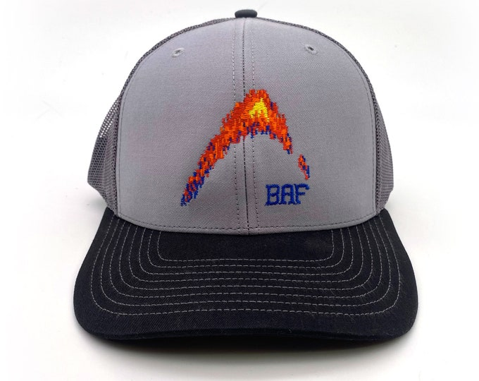 graphin' - BAF Embroidered Snap-Back, Structured Trucker Caps and Hats by Bass Attitude Fishing